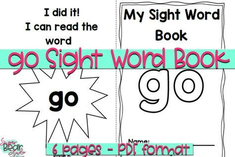 Go Sight Word Book - Educational Resource (1006416) | Educational | Design Bundles