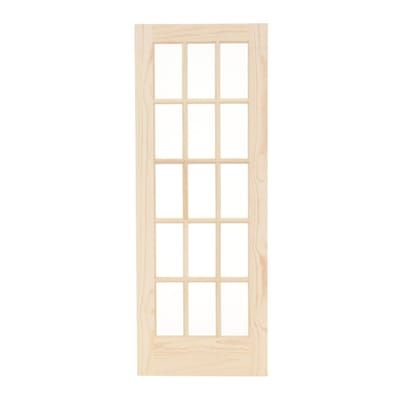 Builders Choice 30 In X 80 In 30 In Clear Pine Wood 15 Lite French Interior Door Slab Hdcp151526 The Home Depot Doors Interior French Interior Interior Wood Stain