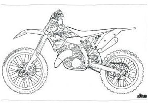 Moto Cross Coloriage