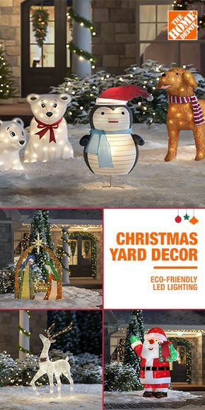 Christmas Decorations Shouldn T Be Restricted To The Indoors Turn On Your Home Outdoor Christmas Decorations Yard Outdoor Christmas Christmas Yard Decorations