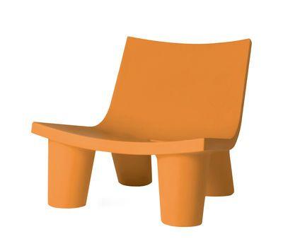 Low Lita Lounge Sessel Slide Orange Sessel Ledersessel
