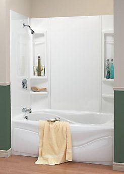 Maax 59 Panama Tub Wall Kit The Home Depot Canada Bathtub Shower Combo Bathtub Walls Tub Shower Combo