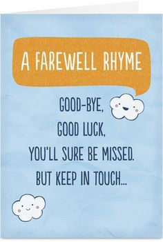cute goodbye card Google Search good bye