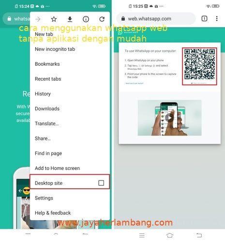 Cara Menggunakan Whatsapp Web Di Android Tanpa Aplikasi Android Aplikasi Iphone