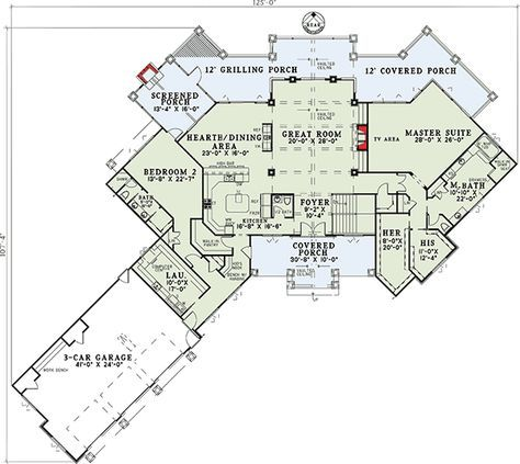 Plan 59963nd Mountain Ranch With Spectacular Rear Views Lake House Plans Mountain House Plans Best House Plans