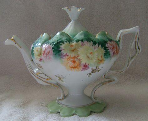 RS Prussia Tea Pot Inspiration high tea-traal Duits lijntje: www.desteenakker.nl