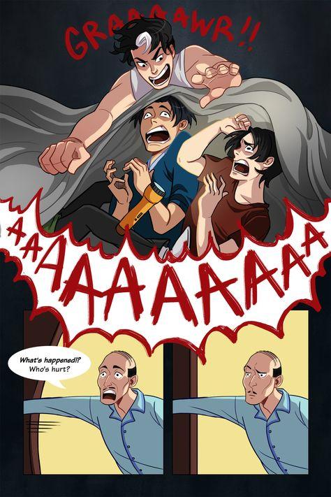 Bad Ass Batkids!, inkydandy:   Thought I'd do a fancier comic. Took...