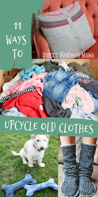 11 ways to ride old clothes. Earth Day, World Environment Day, Recycle and Recycle … – Recycled clothes diy – Clothing Hacks
