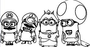 Super Mario Minions With Images Minion Coloring Pages Minions