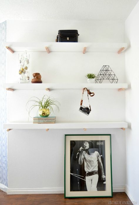 DIY Copper Peg Shelf Tutorial vintagerevivals.com