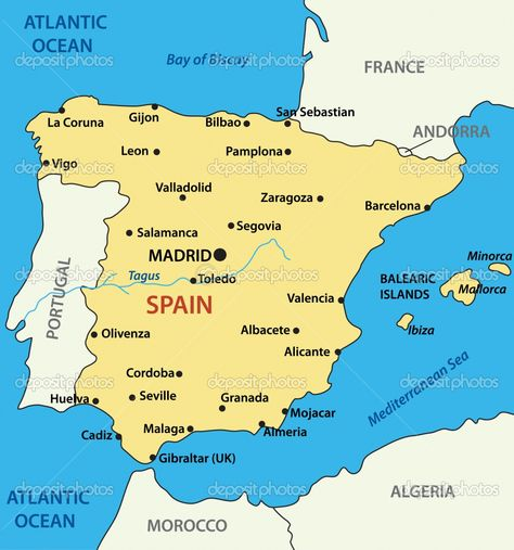 Coast Of Spain Map.The Map Of Spain La Herradura Is Located On The South Coast Of