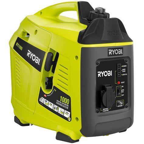 Ryobi 1 000 Starting Watt Gasoline Powered Portable Generator With Digital Inverter Ryi1000 The Home Depot In 2020 Ryobi Portable Generator Diy Solar Panel