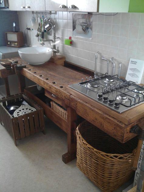 Hobelbank Küche u2026 Pinteresu2026 - versenkbare steckdose küche