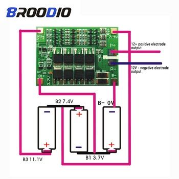 3S 4s 5s 6S BMS PCM lifepo4 18650 lithium battery protection board Batterie