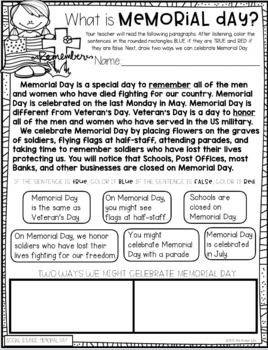 Memorial Day Military Kindergarten Sub Plans With Images