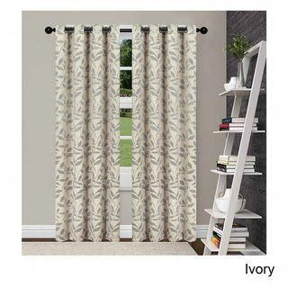 Superior Leaves Insulated Thermal Blackout Grommet Curtain Panel