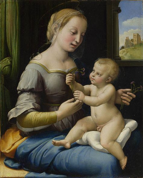 Raphael Madonna Of The Pinks Anexo Obras De Rafael Sanzio
