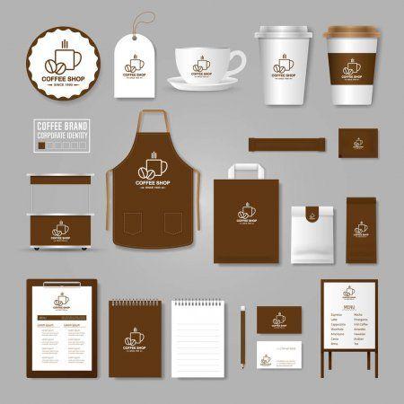 Vorlage Fur Corporate Identity Logo Konzept Fur Cafe Cafe Stock Illus Cafe Corp In 2020 Coffee Shop Logo Coffee Shop Branding Coffee Shop