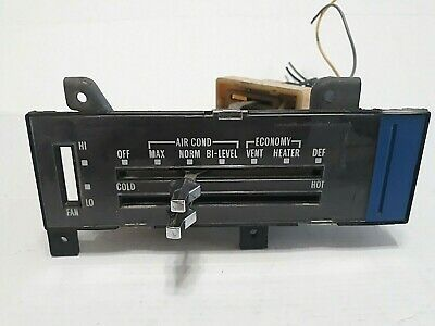 Details About 1973 1987 Oem Chevy Gmc Truck C10 K10 Silverado Heater A C Control Panel In 2020 Gmc Truck Gmc