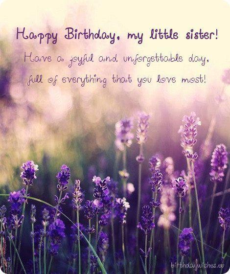 Happy Birthday Little Sister Happy Birthday Little Sister Happy
