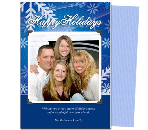 Photo Cards : Winter Christmas Holiday Photo Card Template