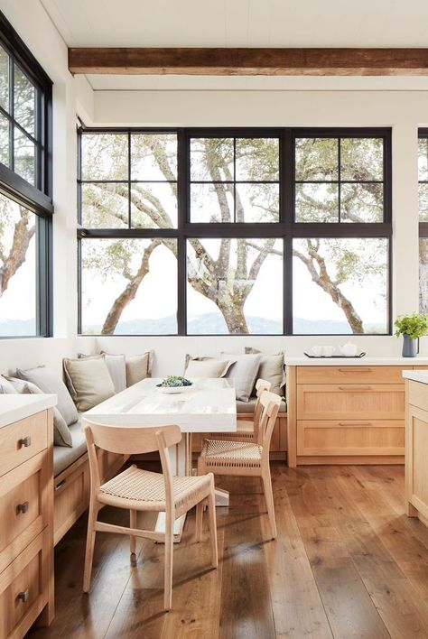 love the chairs and kitchen cabinets decoration house See Inside a Rustic-Modern Vineyard Estate in Napa Valley Rustic Home Interiors, Rustic Home Design, Rustic Style, House Interiors, Napa Valley, Modern Interior, Interior Design, Interior Paint, Classic Kitchen
