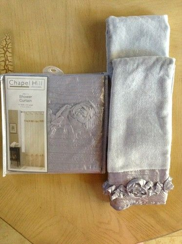 Beautiful Chapel Hill Rosalita Silver Shower Curtain W 2 Matching Hand  Towel | EBay | Bathroom | Pinterest | Silver Shower Curtain, Hand Towels  And Towels