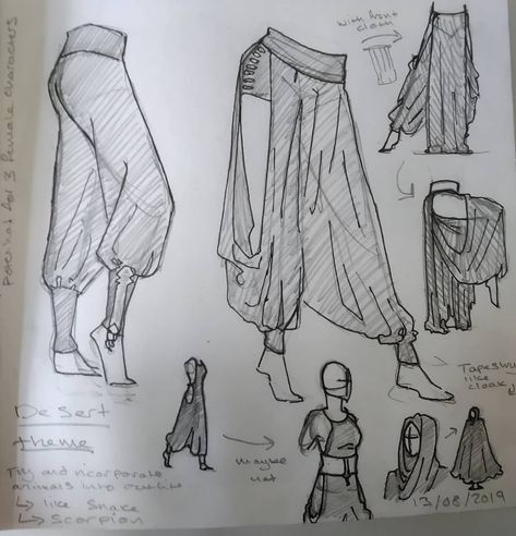 Wow love the trousers Coll character design idea Sketch Inspiration, Character Design Inspiration, Character Design Tutorial, Fashion Design Drawings, Fashion Sketches, Drawing Fashion, Clothing Sketches, Drawing Reference Poses, Drawing Ideas