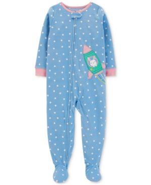 Carter/'s Child of Mine Pink Santa christmas footy PJ/'s infant size