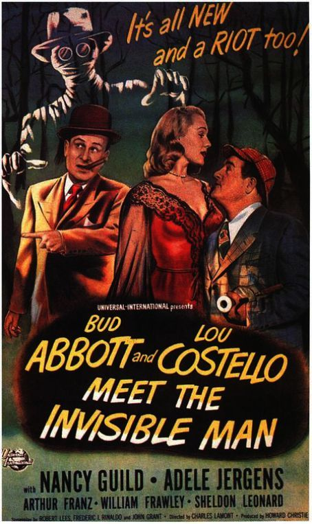 Abbott And Costello Meet The Invisible Man Movie Posters Minimalist Mini Movie Poster Frames Inside Movie Night Poster Maker Movie Poster Invitation Old Movie Posters Invisible Man Abbott And Costello