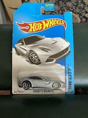 Hot Wheels Ferrari F12 Berlinetta Silver Gray Coupe Car Hw City 2014 Speed Team Ebay Coupe Cars Hot Wheels Ferrari F12