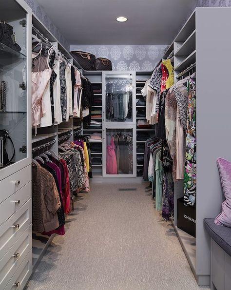 lavender closet, soooo carrie bradshaw :)