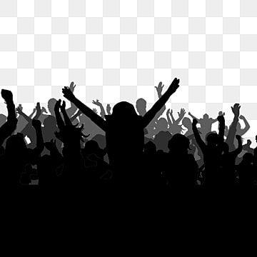 صورة ظلية بسيطة سوداء هتاف الجماهير عنصر بسيط كرتون أسود Png وملف Psd للتحميل مجانا In 2021 Crowd Drawing Banner Background Images Photo Album Design