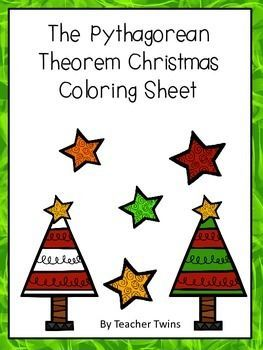 This Is A Worksheet With 16 Pythagorean Theorem Problems Students Color The Grid To Crea Christmas Math Christmas Math Activities Christmas Math Middle School