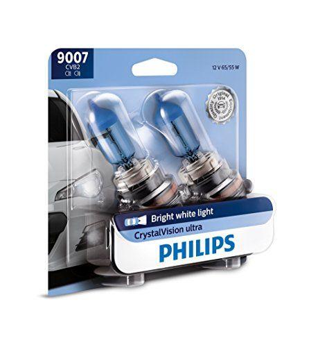 Philips 9007 Crystalvision Ultra Upgrade Bright White Headlight Bulb 2 Pack Headlight Bulbs
