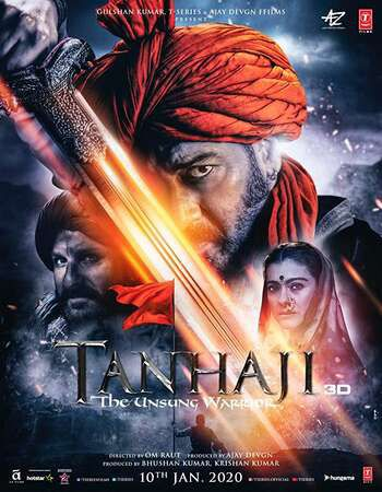 Tanhaji The Unsung Worrier 2020 Hd 300 Mb In 2020 Warrior Movie Latest Bollywood Movies Hindi Movies