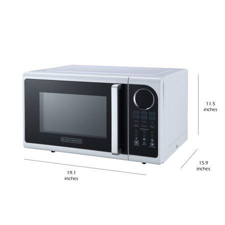 0 9 Cu Ft 900w Countertop Microwave In Silver By Danby Cooking