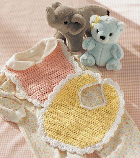 Crochet Baby Bib | Free Baby Bib Pattern from @joannstores