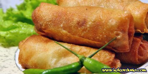Kabardunia Com Resep Lumpia Goreng Isi Sayur Dan Ayam Lumpia Semarang Makanan Resep