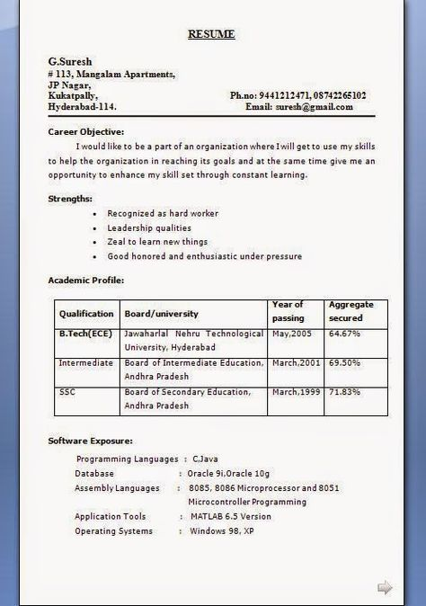 lecturer resume format Sample Template Excellent Curriculum Vitae - programming skills resume