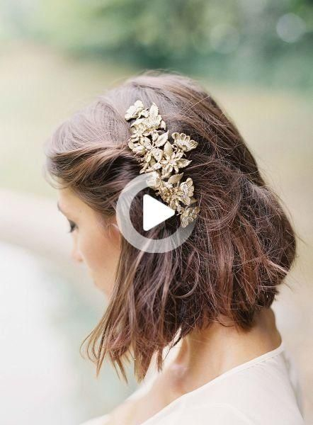 These absolutely gorgeous wedding hairstyles for short hair are sure to inspire your wedding-day look. #weddinghairstyles