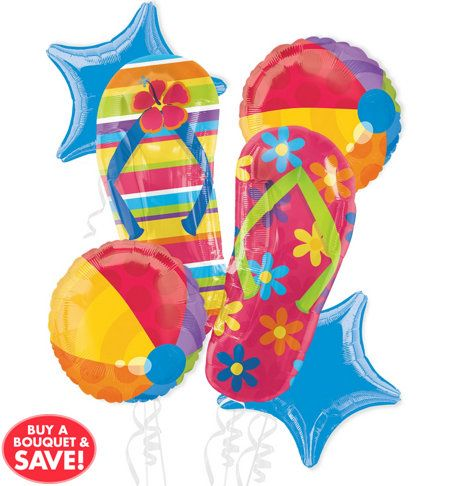 Flip Flop Party Supplies Party City With Images Beach Theme
