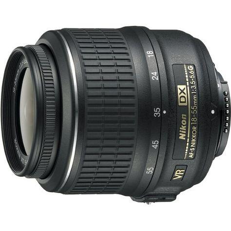 Nikon 18-55mm f/3.5-5.6G VR AF-S DX Nikkor Zoom Lens, Blue