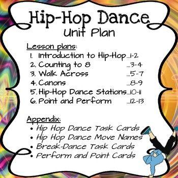 Hip Hop Dance Unit Bundle By Ms G S Teaching Ideas Teachers Pay Teachers Hip Hop Dance Hip Hop Dance Moves Dance Moves Names