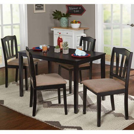 Home Dining Table Black Dining Set Dinette Furniture