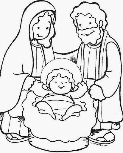 Imagenes De La Sagrada Familia Para Colorear Pesebres Para Colorear Dibujos De Navidad Faciles Dibujo Navidad Para Colorear