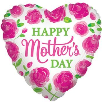 Happy Mothers Day Painted Petals Foil Balloon Happy Mothers Day Diy Mother S Day Decorations Foil Balloons
