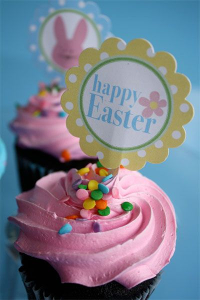 Easter cupcake toppers
