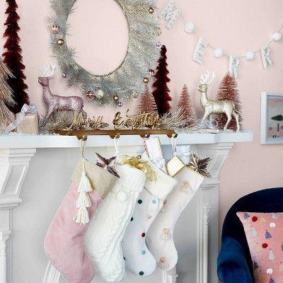 "NEW Opalhouse Christmas Winter Scene Hand Towel 24/"" x 16/"" Fresh White"