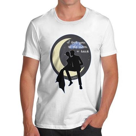 232af7b433 Men's I Love You To The Moon & Back Couple T-Shirt | Products ...